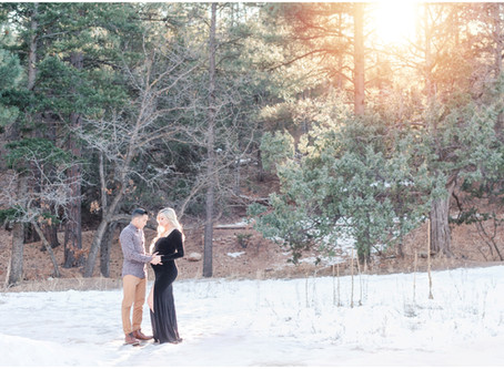 Nicole and Joby's Winter Wonderland Maternity Session | Albuquerque Maternity Photographers