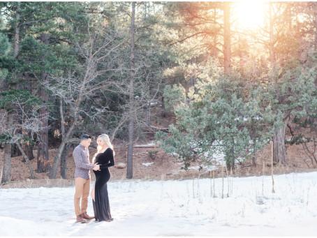 Nicole and Joby's Winter Wonderland Maternity Session | Albuquerque Maternity Photographers