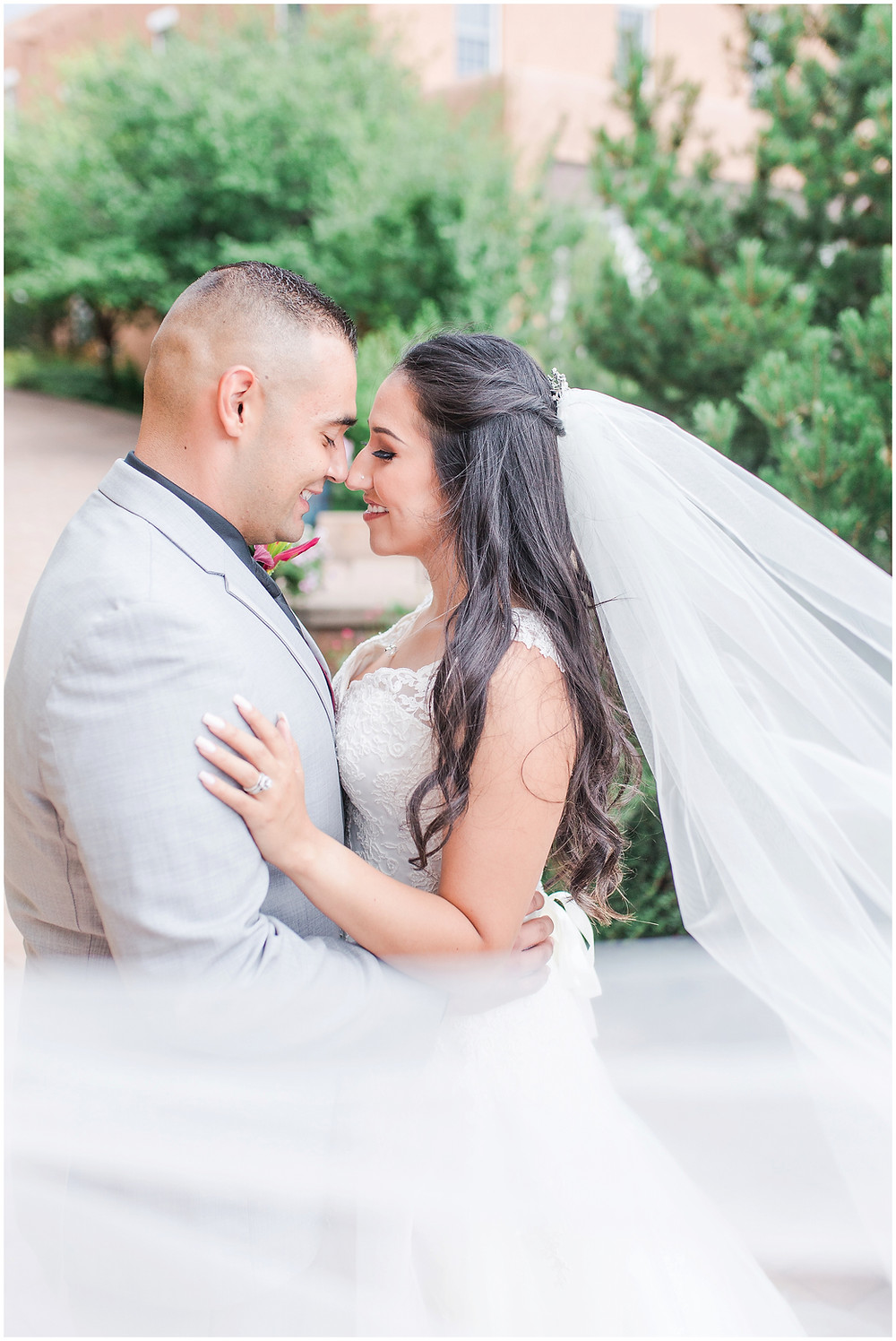 New Mexico wedding photographer. Santa fe wedding photographer. Albuquerque wedding photographer. Maura Jane Photography. La Fonda santa fe wedding. Santa fe destination wedding. Mexican fiesta wedding. Long Veiled Bride. Cathedral Veil Bride. Hair down Bride. Burgundy wedding colors.