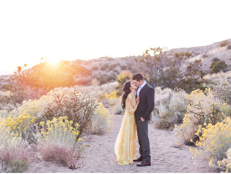 Emily + Alex | Glowing Engagement in the Sandia Foothills