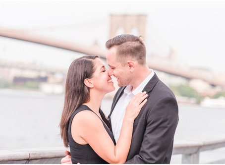 Jordan + Brett | An Engagement in The Seaport District, New York City