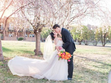 Anahi & Elliott | A Bloom-Filled Minimony in Santa Fe | Santa Fe Wedding Photographers