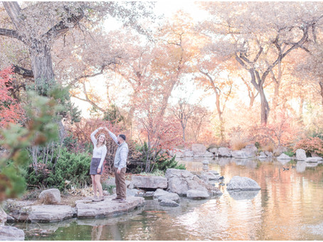 Lauren + Steven | A Glowing Engagement in the Botanical Gardens | New Mexico Wedding Photographers