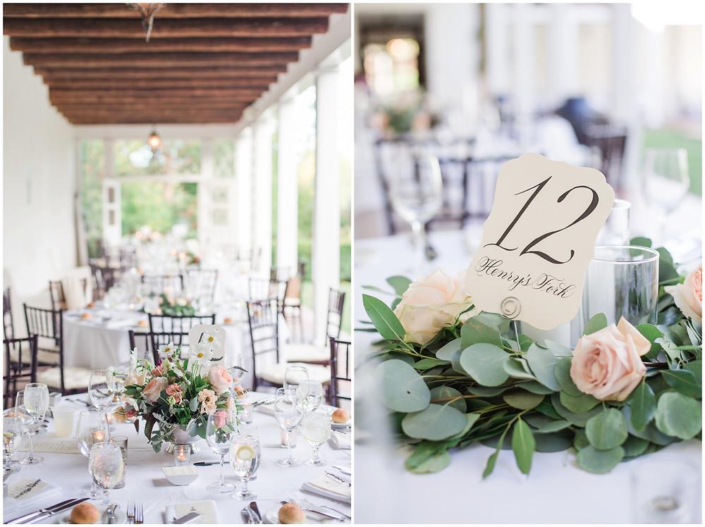 Los Poblanos wedding. summer wedding. wedding invitations. New mexico wedding. Outdoor wedding. Maura Jane Photography. floral center piece. reception decor