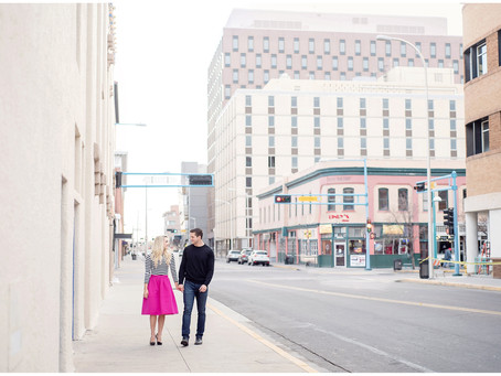Brooke + Mitch | Downtown Albuquerque Engagement