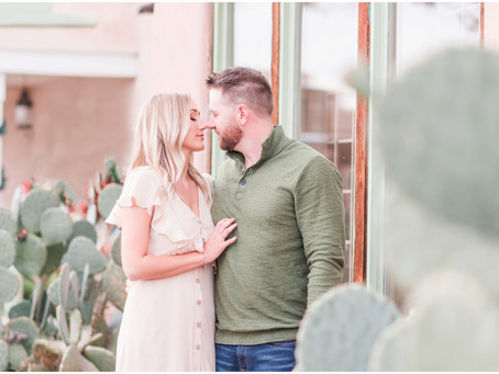 Ashley and Seth | A Wintery Old Town Engagement | Albuquerque Wedding Photographers