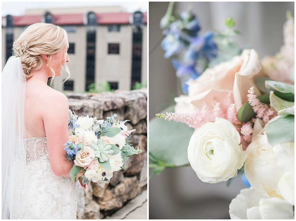 succulents in a wedding bouquet in New Mexico