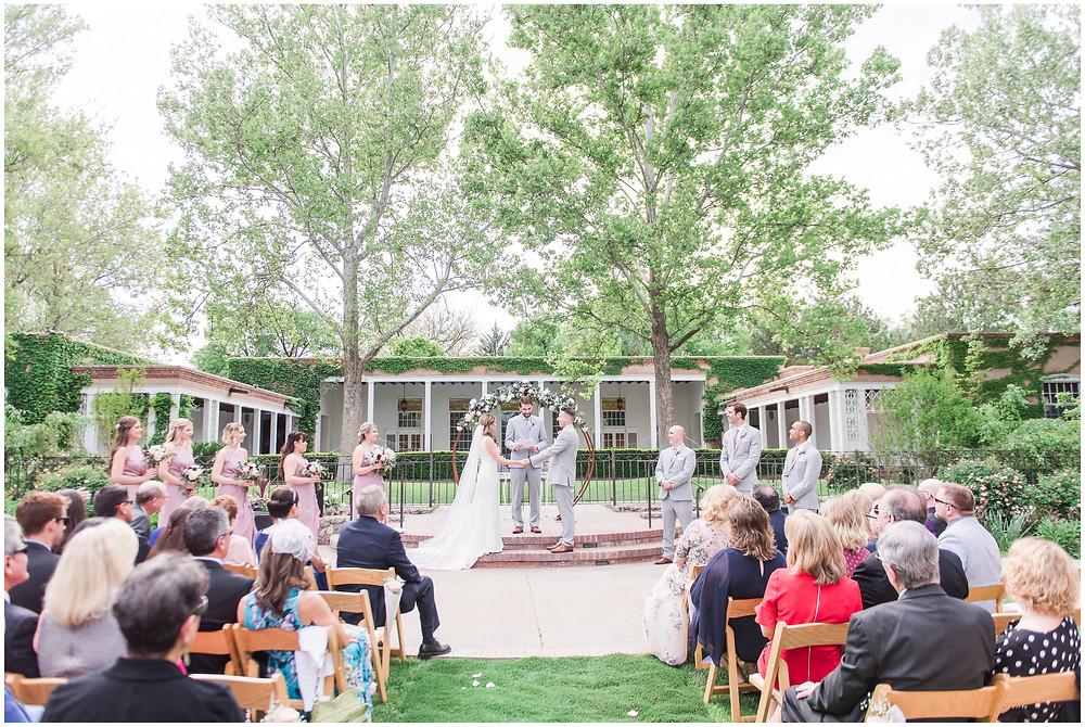Los Poblanos Ceremony. Los Poblanos Wedding Venue. Albuquerque Wedding Photographer. New Mexico Wedding Photographer. Los Poblanos Lavender Farm. Albuquerque Wedding Venue.