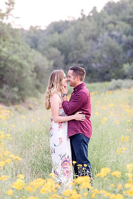 tijeras mountain engagement photography flower field