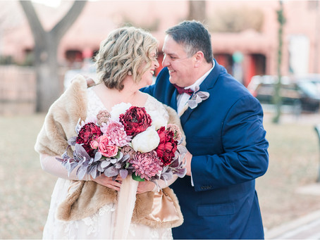 Brett & Candy | A La Fonda Intimate New Year's Eve Wedding | Santa Fe Wedding Photographers