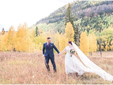 Amber + Ryan | Fall Durango Wedding at Purgatory Resort | Colorado Wedding Photographers