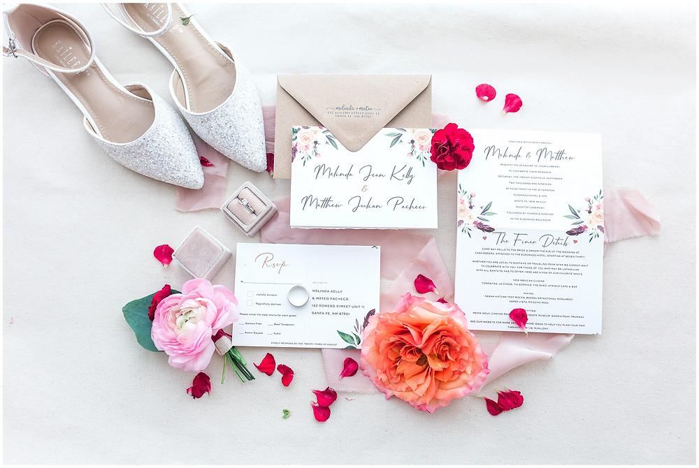 El Dorado Santa Fe. El Dorado Wedding. Santa Fe Wedding. Santa Fe Wedding Photographer. New Mexico Wedding. New Mexico Wedding Photographer. Lace Wedding Dress. Bold Wedding Colors.