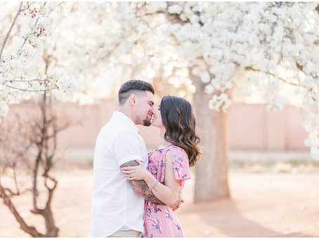 Kelsie and Xavier | Spring Blooms Engagement Session in Albuquerque