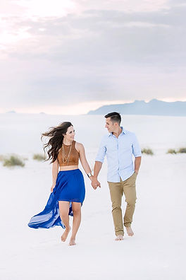 new mexico engagement at white sands photography