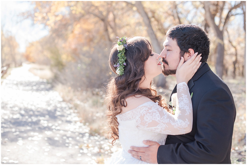 Fall wedding. Wedding at Hyatt Tamaya. Winter Wedding. Long Sleeve Wedding Dress, Purple Wedding. outdoor wedding in New Mexioco. New Mexico Wedding Photography. maura jane photography. mountain wedding photos.