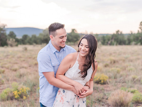 Kassy + Christian | A Romantic Engagement in Cedar Crest | Albuquerque Wedding Photographers