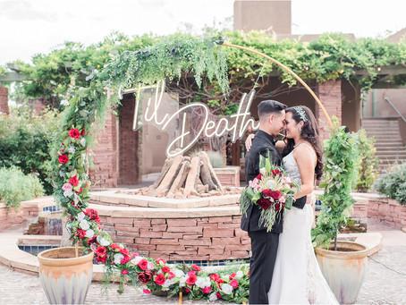 Erica + Casey | Trend-setting La Posada Wedding | Santa Fe Wedding Photographers