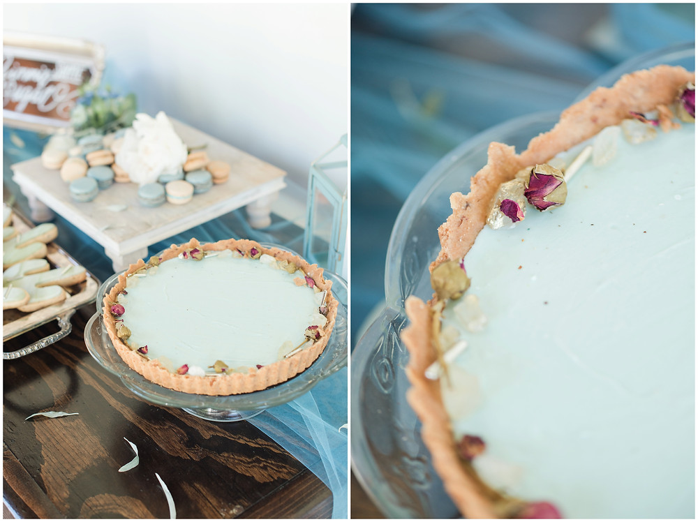 Wedding at Los poblanos. dusty blue wedding. new mexico wedding venue. outdoor wedding. spring wedding. albuquerque wedding. new mexico wedding photographer. maura jane photography. dessert table. pie tart