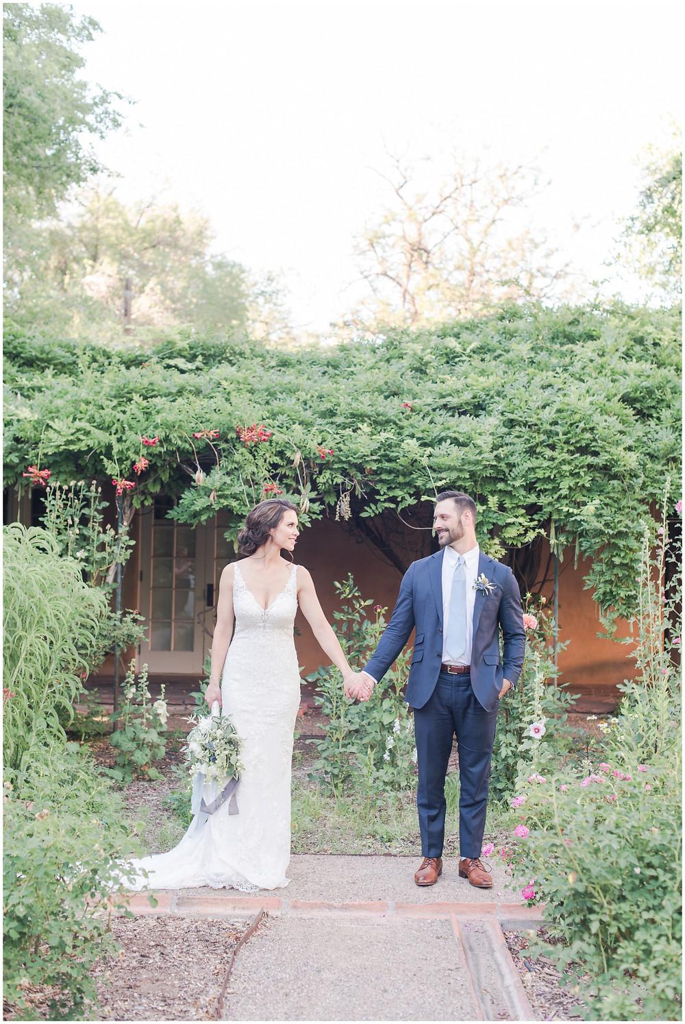 Wedding at Los poblanos. dusty blue wedding. new mexico wedding venue. outdoor wedding. spring wedding. albuquerque wedding. new mexico wedding photographer. maura jane photography.