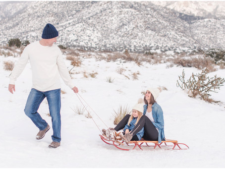The Stone Family | A Frosty Family Session in the Foothills | Albuquerque Family Photographers