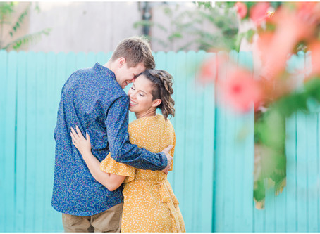 Bre + Tyrell | Colorful Old Town Albuquerque Engagement