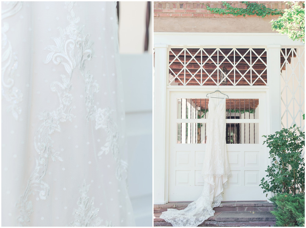 Wedding at Los poblanos. dusty blue wedding. new mexico wedding venue. outdoor wedding. spring wedding. albuquerque wedding. new mexico wedding photographer. maura jane photography. polka dot wedding dress.