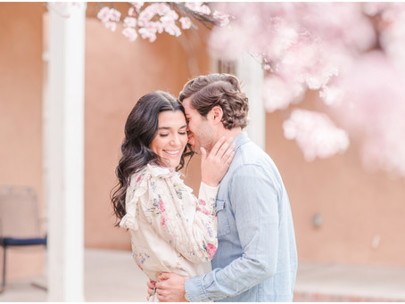 Hallie and Lee | A Romantic Springtime Engagement at Los Poblanos| New Mexico Wedding Photographers