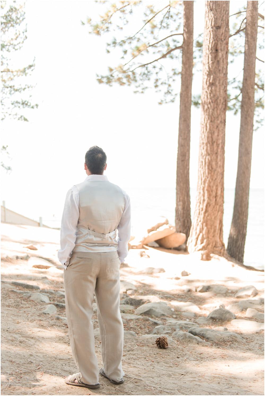 Destination Wedding Photographer. Lake Tahoe wedding. Lake Tahoe elopement. Lake Tahoe bride. Strappy wedding dress