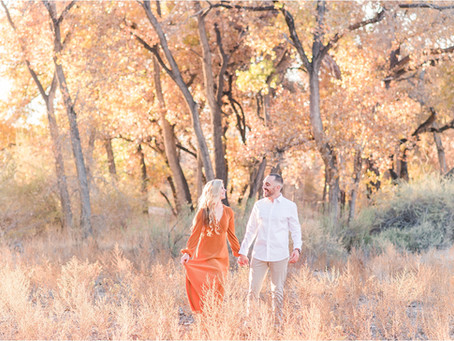 Nikki + Shawn | A Sun-kissed Autumn Engagement in the Bosque | Albuquerque Wedding Photographers