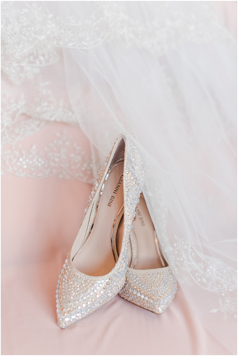 Stunning jeweled wedding shoes. Silver and Gold wedding shoes. Sparkly wedding shoes by Gianni Bini