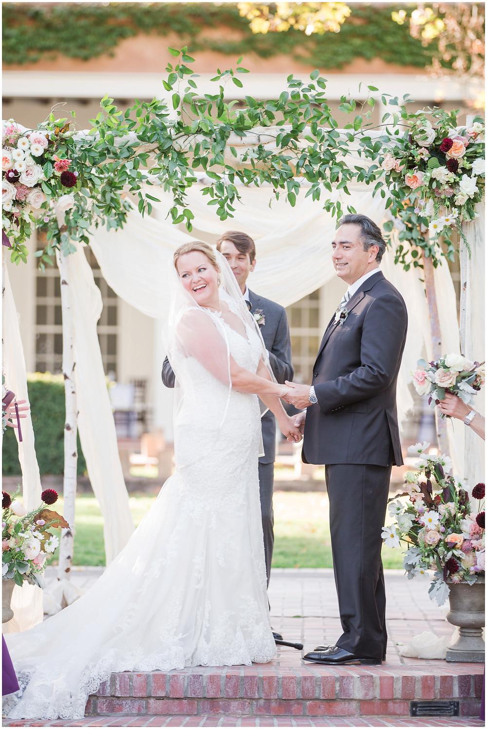 Los Poblanos wedding. summer wedding. wedding invitations. New mexico wedding. Outdoor wedding. Maura Jane Photography. ceremony arch. ceremony backdrop. ceremony floral arch.