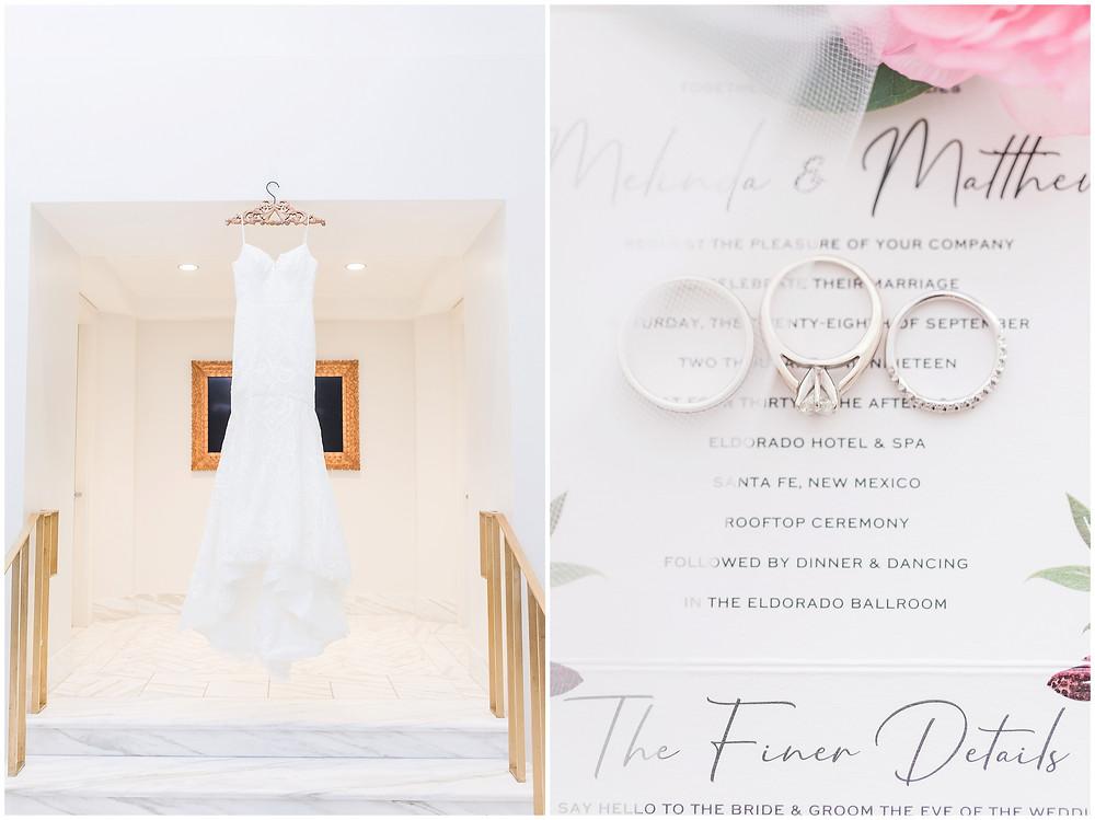 El Dorado Santa Fe. El Dorado Wedding. Santa Fe Wedding. Santa Fe Wedding Photographer. New Mexico Wedding. New Mexico Wedding Photographer. Lace Wedding Dress.