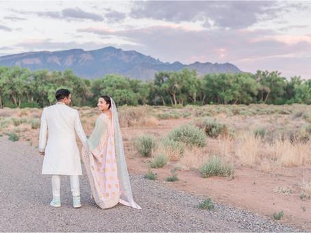 Sharaf and Naima | An Intimate South Asian Wedding at The Hyatt Tamaya | NM Wedding Photographers
