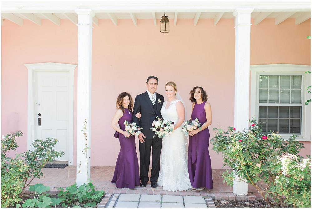 Los Poblanos wedding. summer wedding. wedding invitations. New mexico wedding. Outdoor wedding. Maura Jane Photography. purple bridal party. summer wedding