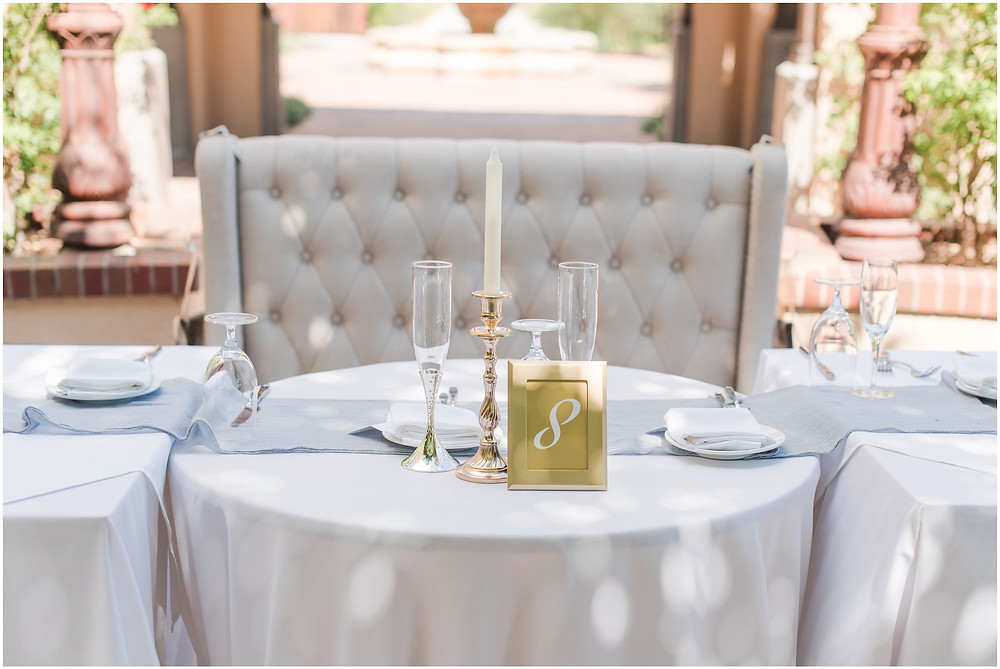 elegant dusty blue wedding. new mexico wedding photographer. hotel albuquerque wedding. new mexico bride. elegant wedding reception.