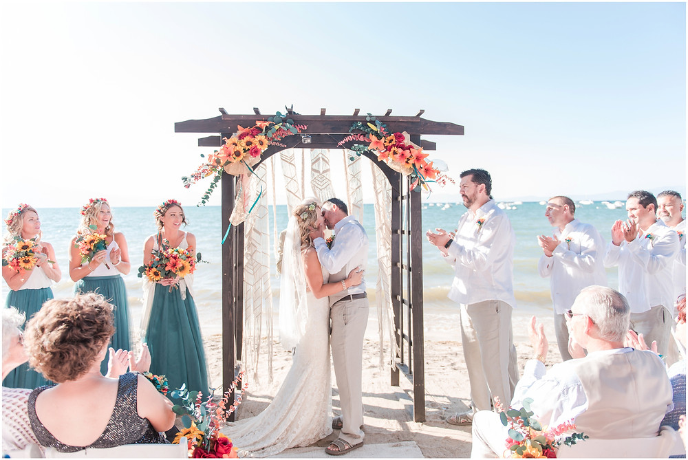 Destination Wedding Photographer. Lake Tahoe wedding. Lake Tahoe elopement. beach wedding