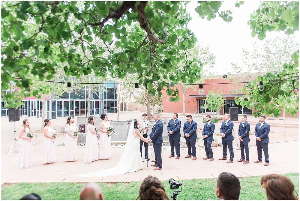 Outdoor ceremony at Calvary Chapel Albuquerque.