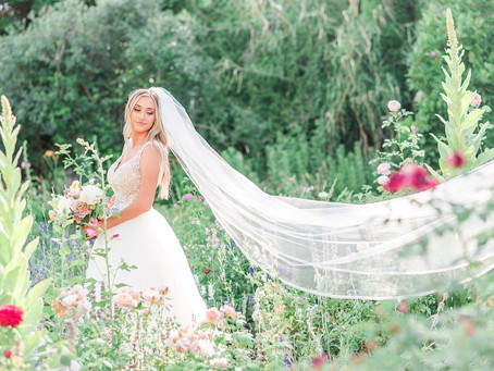 An Angelic Bridal Session in the Gardens of Los Poblanos | Albuquerque Wedding Photographers