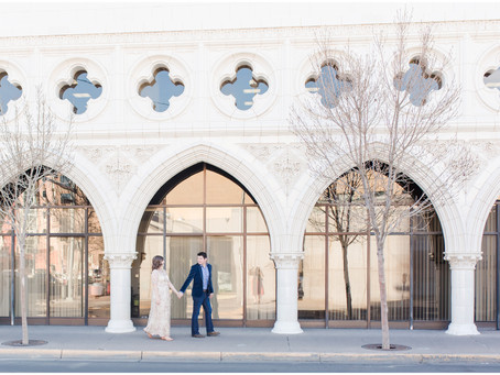 Clarissa + Steve | Stylish Downtown Albuquerque Engagement