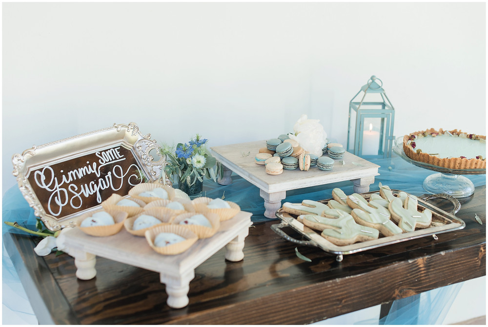 Wedding at Los poblanos. dusty blue wedding. new mexico wedding venue. outdoor wedding. spring wedding. albuquerque wedding. new mexico wedding photographer. maura jane photography. dessert table