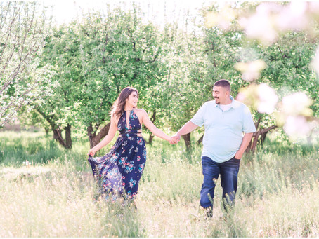 Sandra + Charles | An Orchard Engagement in Corrales, New Mexico | Albuquerque Wedding Photographers