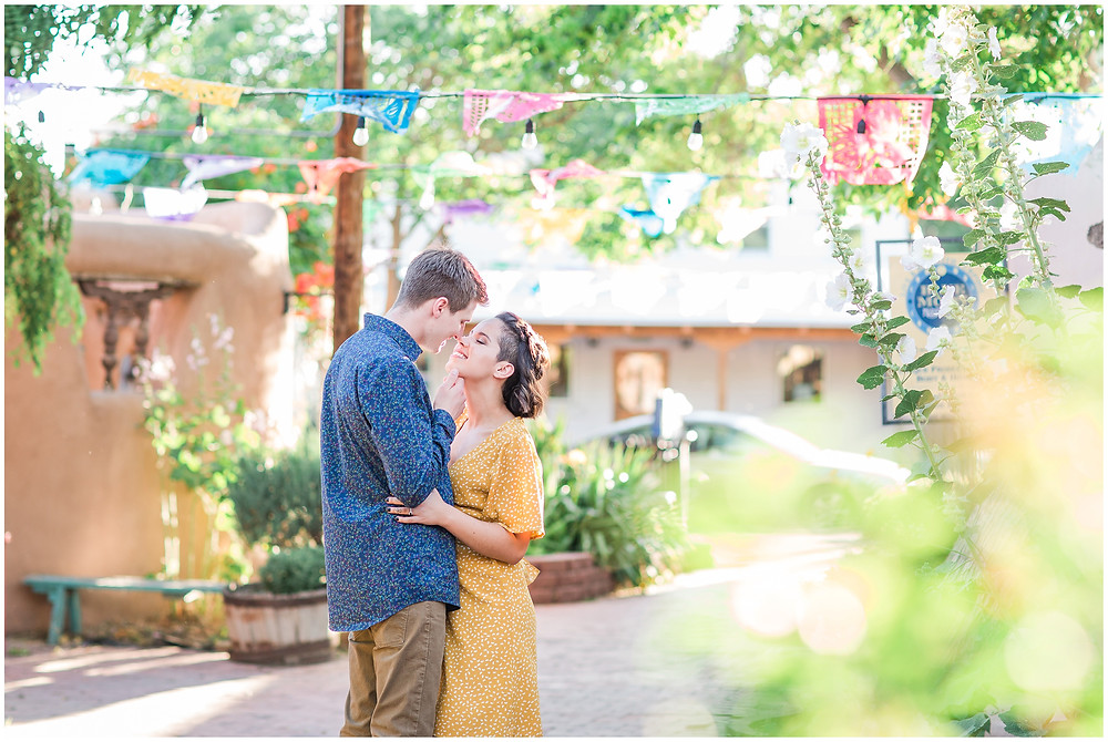 Old Town Albuquerque Engagement Photographer
