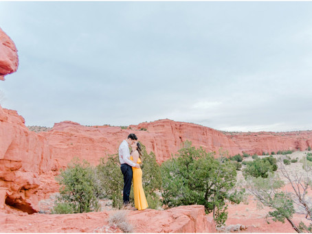 Tiffany + Nathan | An Elegant Southwest Engagement in Jemez