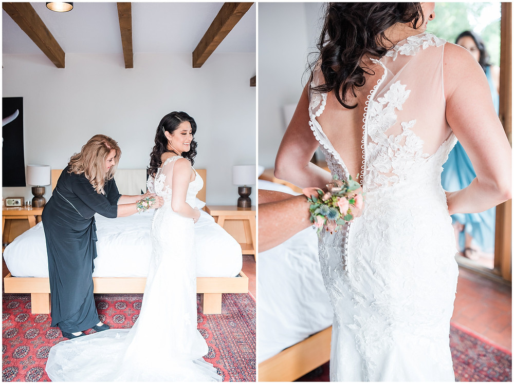 El Ray Court Wedding. El Ray Court Santa Fe. Santa Fe Wedding. Santa Fe Wedding Photographer. New Mexico Wedding. New Mexico Wedding Photographer. Lace Wedding Dress. Strapless Wedding Dress. Getting Ready Photos Wedding. Classic Wedding Dress. Vintage Wedding Dress.