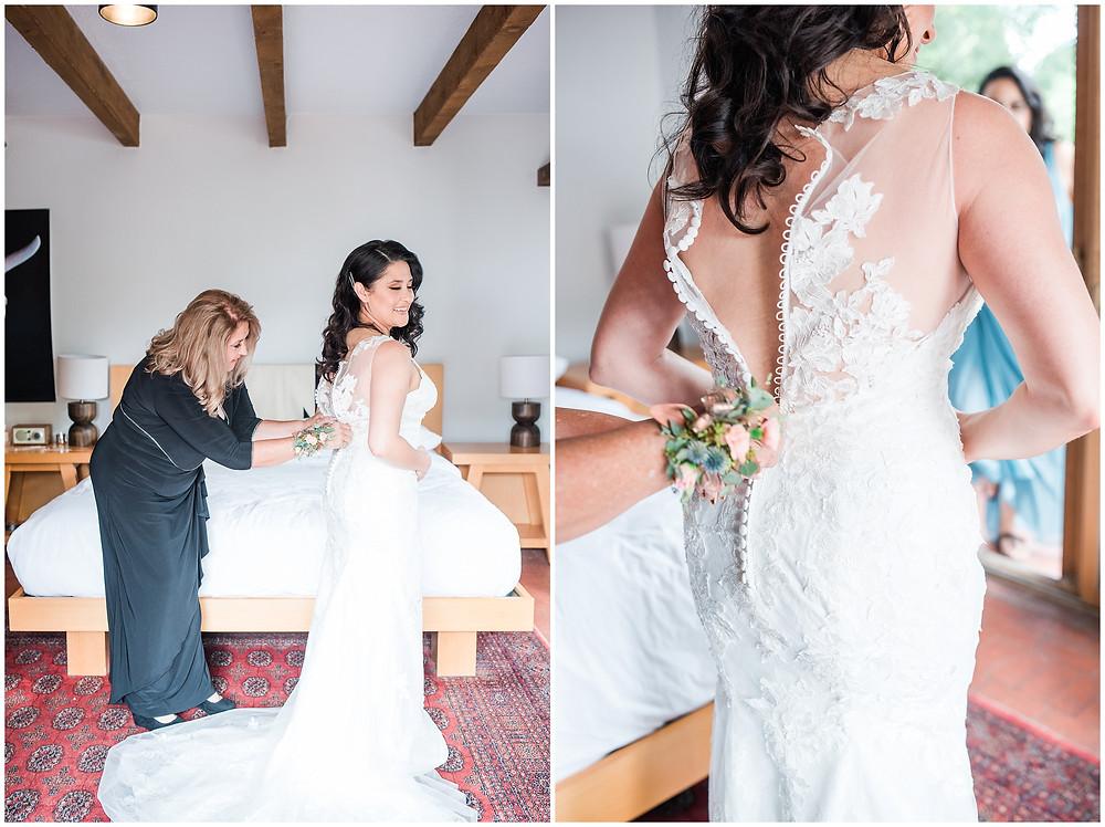 El Ray Court Wedding. El Ray Court Santa Fe. Santa Fe Wedding. Santa Fe Wedding Photographer. New Mexico Wedding. New Mexico Wedding Photographer. Lace Wedding Dress. Strapless Wedding Dress. Getting Ready Photos Wedding. Classic Wedding Dress. Vintage Wedding Dress.