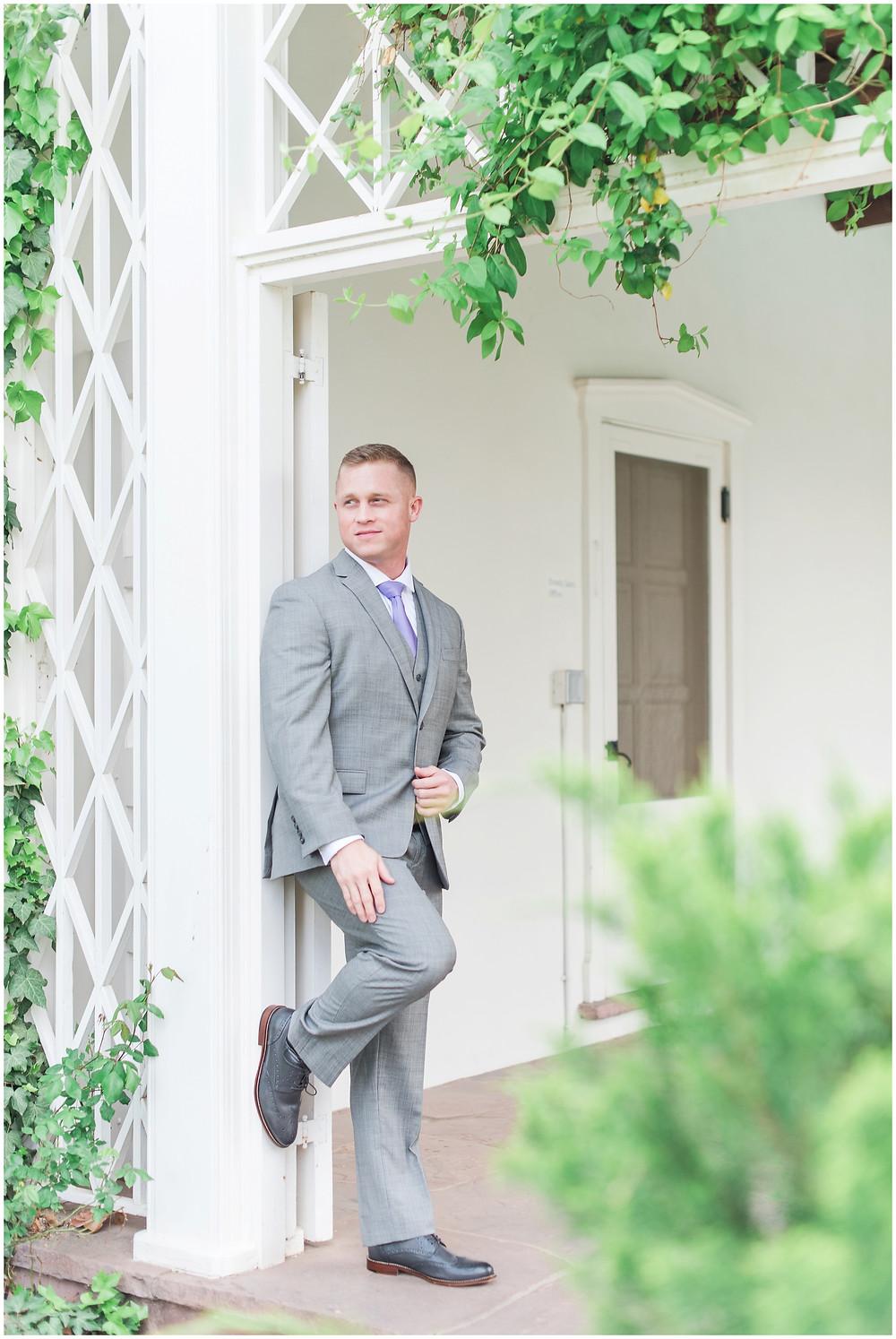 los poblanos wedding venue. groom new mexico. groom los poblanos. albuquerque wedding photographer. new mexico wedding photographer.