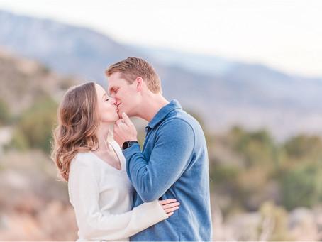 Sarah + Lance   Sandia Foothill Mountaintop Engagement