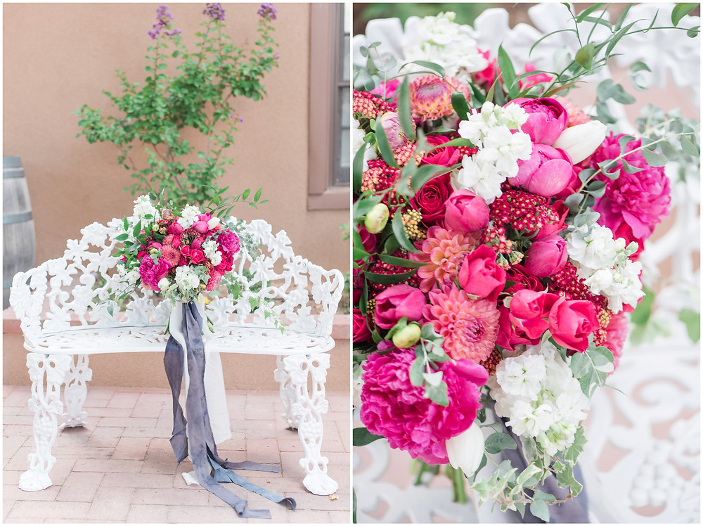 New Mexico Elopement. New Mexico Weding photographer. New Mexico wedding. Casa Parea wedding. Bright Pink wedding. Red Head Bride. Navy wedding.