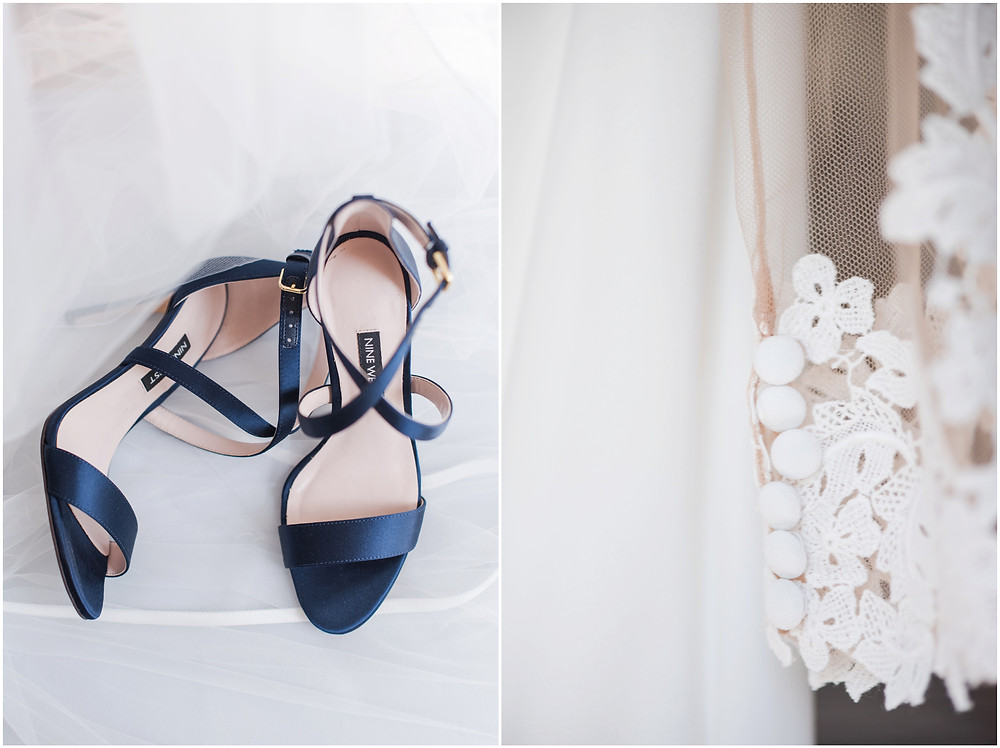 Wedding at Casa Rondena Winery. Maura Jane Photography. fall wedding New mexico. Outdoor wedding venue albuquerque. New Mexico Wedding Photographer. Winery Wedding. blue wedding shoes