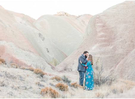 Melise + Nick | A White Mesas Engagement Session